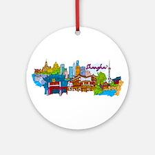Shanghai - China Ornament (Round)