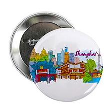 "Shanghai - China 2.25"" Button (100 pack)"