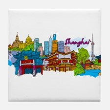 Shanghai - China Tile Coaster