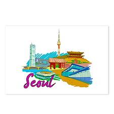 Seoul - South Korea Postcards (Package of 8)
