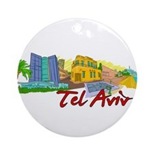 Tel Aviv - Israel Ornament (Round)