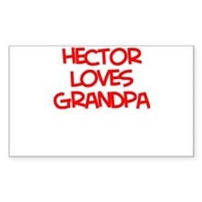 Hector Loves Grandpa Rectangle Decal