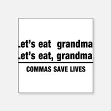 lets eat grandma Sticker