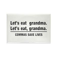 lets eat grandma Magnets