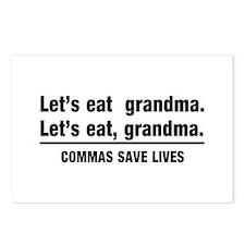 lets eat grandma Postcards (Package of 8)