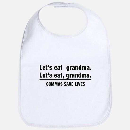 lets eat grandma Bib