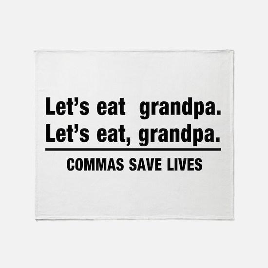 lets eat grandpa Throw Blanket