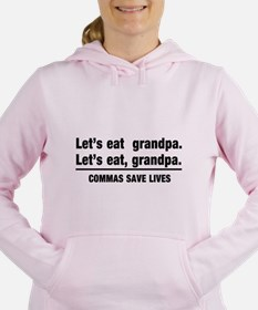 lets eat grandpa Women's Hooded Sweatshirt