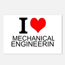 I Love Mechanical Engineering Postcards (Package o