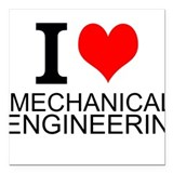 Mechanical engineer Square Car Magnets