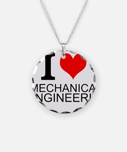 I Love Mechanical Engineering Necklace