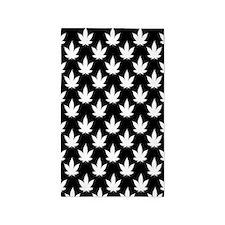 Cannabis Leaf Pattern 3'x5' Area Rug