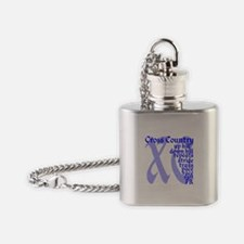 Unique Cross country Flask Necklace