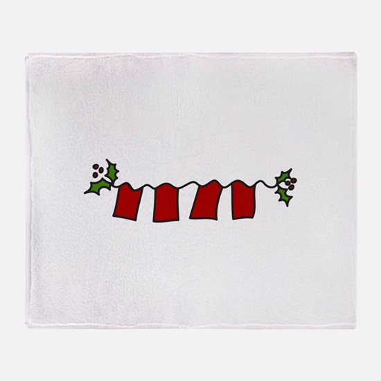 Holly Letters Throw Blanket