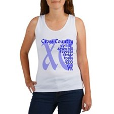 Cross Country XC blue Tank Top
