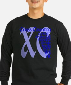 Cross Country XC blue Long Sleeve T-Shirt