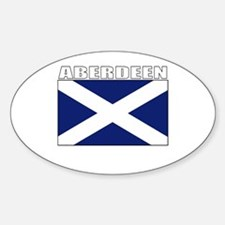 Aberdeen, Scotland Oval Decal