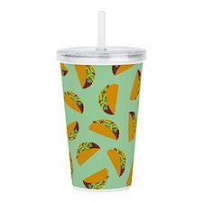 Taco Pattern Acrylic Double-wall Tumbler