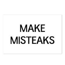 Make misteaks Postcards (Package of 8)