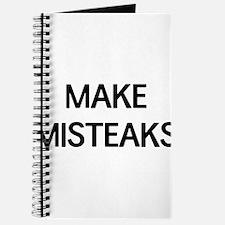 Make misteaks Journal