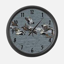 Eiders Large Wall Clock