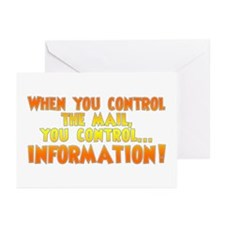 When you control the mail... Greeting Cards (Packa