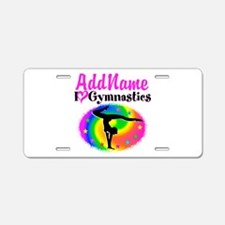 FIERCE GYMNAST Aluminum License Plate