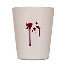Dripping blood Shot Glass