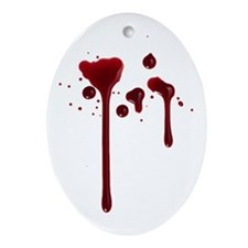 Dripping blood Ornament (Oval)