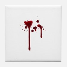 Dripping blood Tile Coaster
