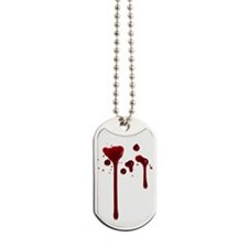 Dripping blood Dog Tags