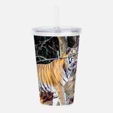Tiger in the woods Acrylic Double-wall Tumbler