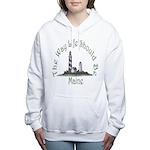 Maine State Motto Women's Hooded Sweatshirt