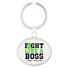 Lyme Disease Fight Oval Keychain