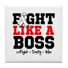 Lung Disease Fight Tile Coaster