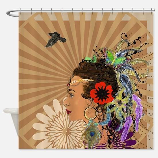 Bohemian Goddess Shower Curtain