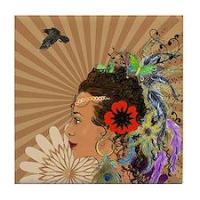 Bohemian Goddess Tile Coaster