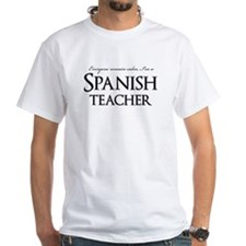 Remain Calm Spanish Teacher Shirt