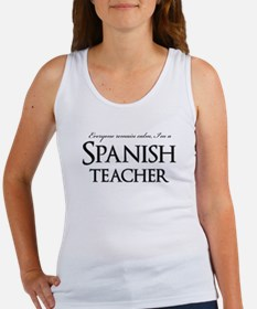 Remain Calm Spanish Teacher Women's Tank Top