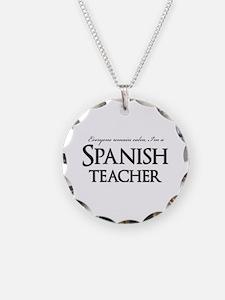 Remain Calm Spanish Teacher Necklace