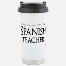 Remain Calm Spanish Tea Travel Mug