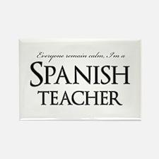 Remain Calm Spanish Teacher Rectangle Magnet
