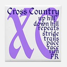 Cute Cross country runner Tile Coaster