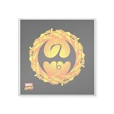 "Iron Fist Icon Square Sticker 3"" x 3"""