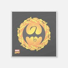 """Iron Fist Icon Square Sticker 3"""" x 3"""""""