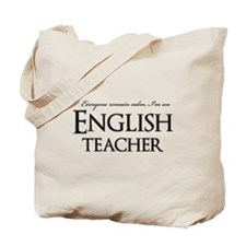 Remain Calm English Teacher Tote Bag