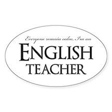 Remain Calm English Teacher Decal