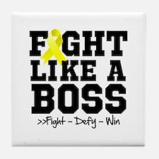 Endometriosis Fight Tile Coaster