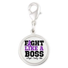 Cystic Fibrosis Fight Silver Round Charm