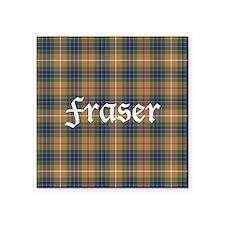 "Tartan - Fraser hunting Square Sticker 3"" x 3"""